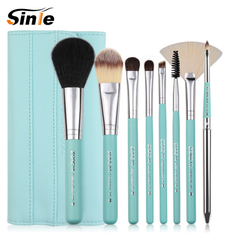 Professional 8pcs Makeup Brushes Set For Women Fashion Soft Face Lip Eyebrow Shadow Make Up Brush Set Kit + Pouch Bag make up for you professional face deep clean soft make up brush yellow white