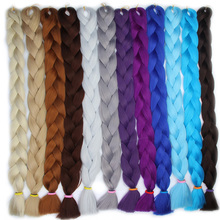 FALEMEI one pcs Kanekalon Braids Crochet Pure Color hair Extension Gray jumbo Braiding Hair 165g/pack synthetic hair Bulk