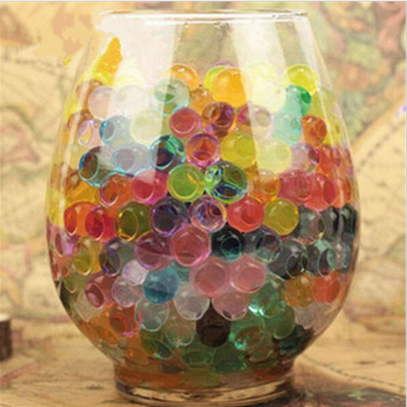 1set Multicolor Magic water ball beads for Hydroponic plant Nutrient soil Kids Toy Beads Growing Up large Crystal mud balls in Crystal Soil from Home Garden