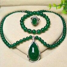 Yu xin yuan 925 Серебряный нефритовый медальон кольцо браслет кулон/ожерелье Модные Ювелирные наборы для женщин вечерние