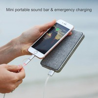 BMQ Portable Bluetooth Speaker,Built In 2000mAh Power Bank,HD Audio w/Deep Bass, Superior 3D Stereo with Passive Subwoofers