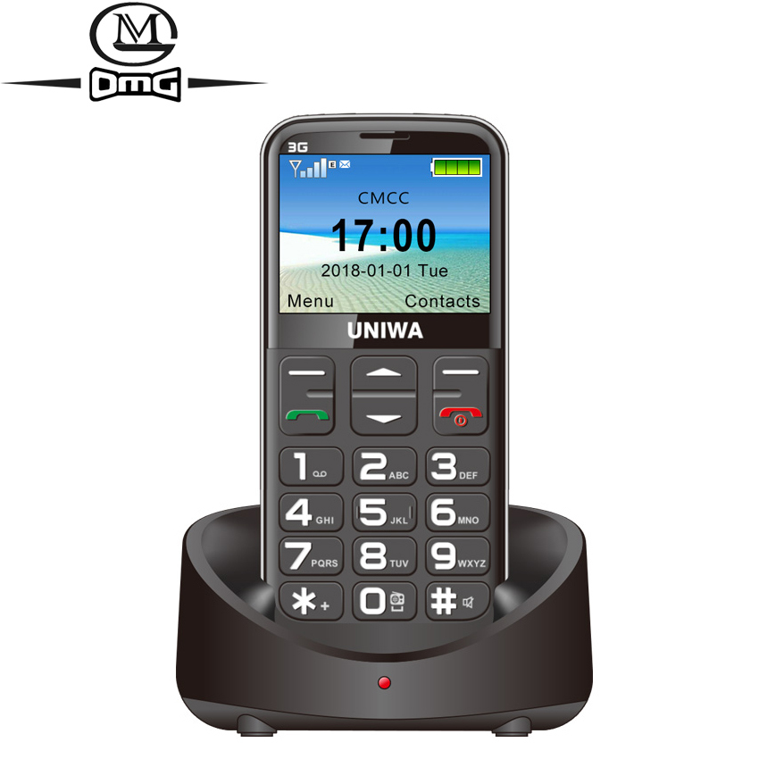 Russian keyboard 3G Old Man Mobile Phone SOS 1400mAh 2.31