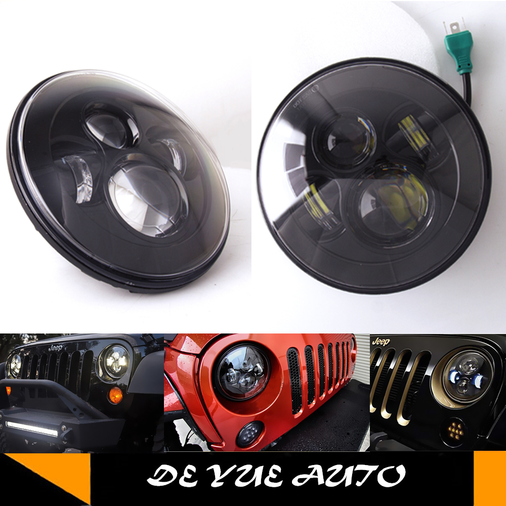 """for 92-01 AM General Hummer H1 H3 H2 7"""" ROUND LED headlight high"""