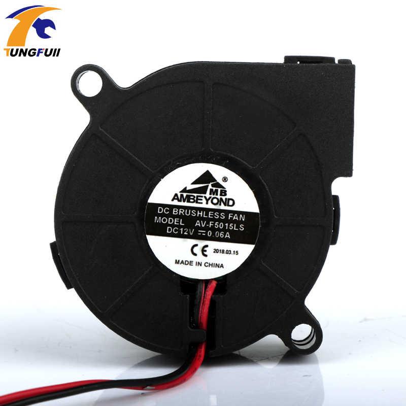 DC12V Ventilator Centrifugaal Turbo Fan Koeling Micro Blower 5015 Wormwiel Fan Ultra-Stille Ventilator
