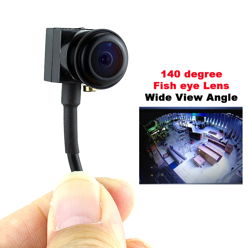 SMTKEY 700TVL Color Video Camera Wide Angle View Small Mini Camera 140 Degree Fish Eye Lens Micro Mini Security Camera