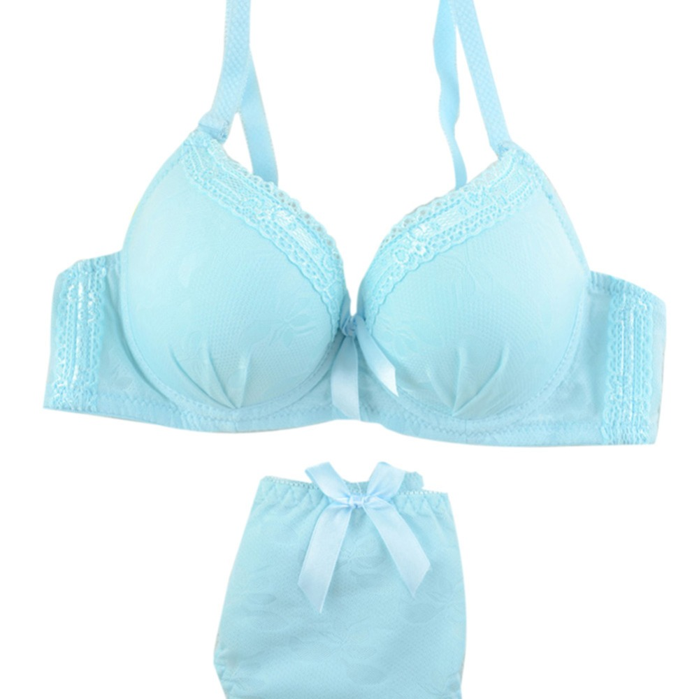Sexy Lady Women Underwire   Bra     Set   Lace Push-up Underwear Brassiere Lingerie