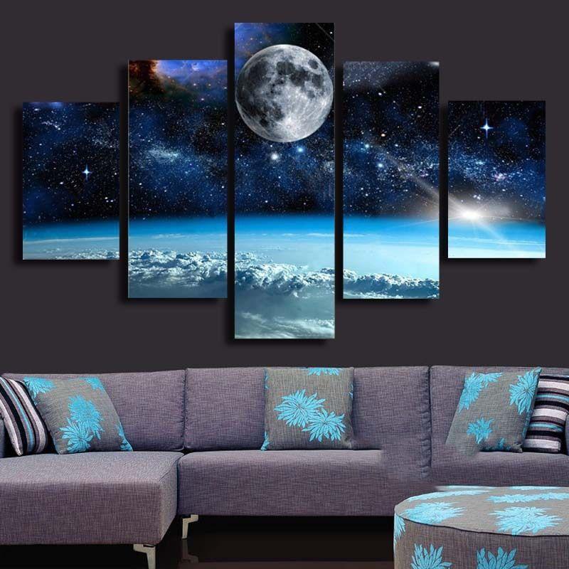 Popular Moon Artwork-Buy Cheap Moon Artwork lots from ...