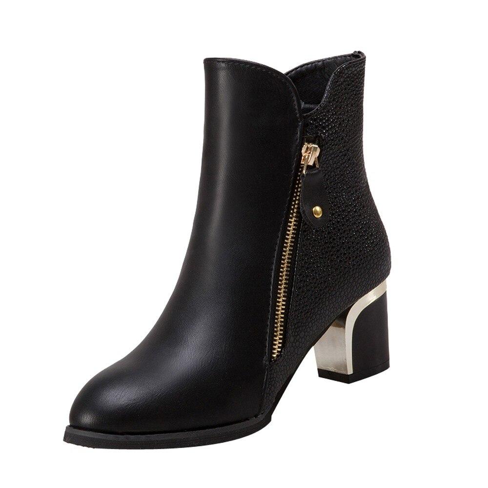2018 Chelsea Stiefel Frauen Winter Schuhe Britischen Stil Patent Leder Mode Weibliche Karree Niedrigen Absätzen Stiefeletten Frauen Gutes Renommee Auf Der Ganzen Welt