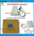 Последним Dual Band Мобильный Телефон Сигнал Повторителя 850 МГц 1800 мгц, CDMA, DCS Усилитель Сигнала Сотового Телефона Усилитель Сигнала с антенна
