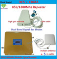 Newest Dual Band Mobile Phone Signal Repeater 850 MHz 1800 MHz CDMA DCS Signal Booster Cell Phone Signal Amplifier with Antenna