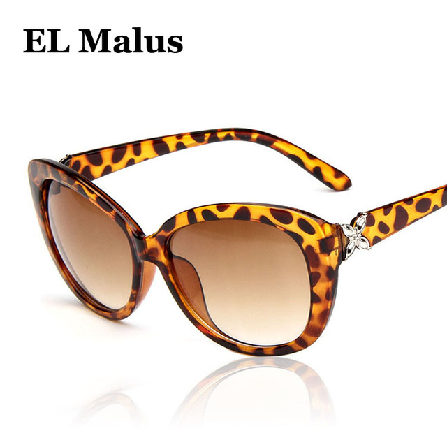 [EL Malus]Fashion Retro Oval Frame Sunglasses UV400 Vintage Women Female Black Red Sun Glasses Brand Designer Eyewear Mirror