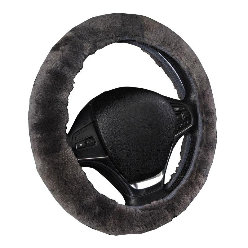 Winter Warme Wolle Lenkrad Abdeckung Für 38 cm AUTOYOUTH Farbe Grau Schwarz Funda Volante Auto Abdeckungen