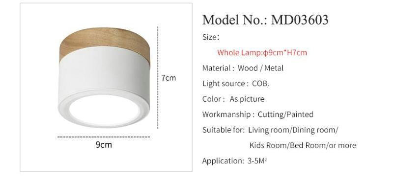 Iluminação Luminárias led 7 W Madeira madeira modern living light