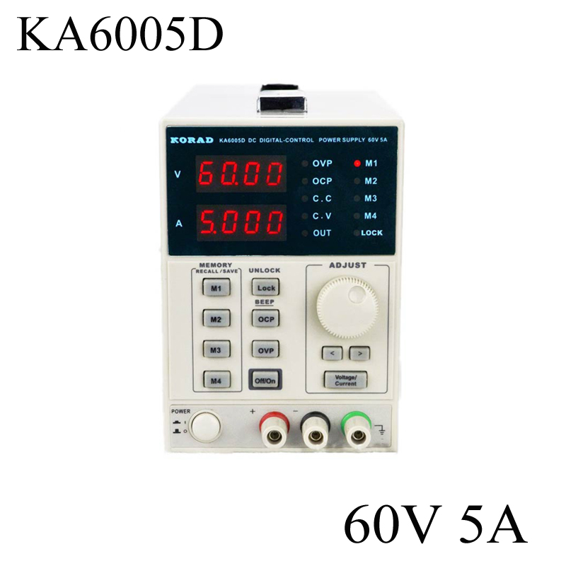 KORAD KA6005D Precision Variable Adjustable 60V, 5A DC Linear Power Supply Digital Regulated Lab Grade