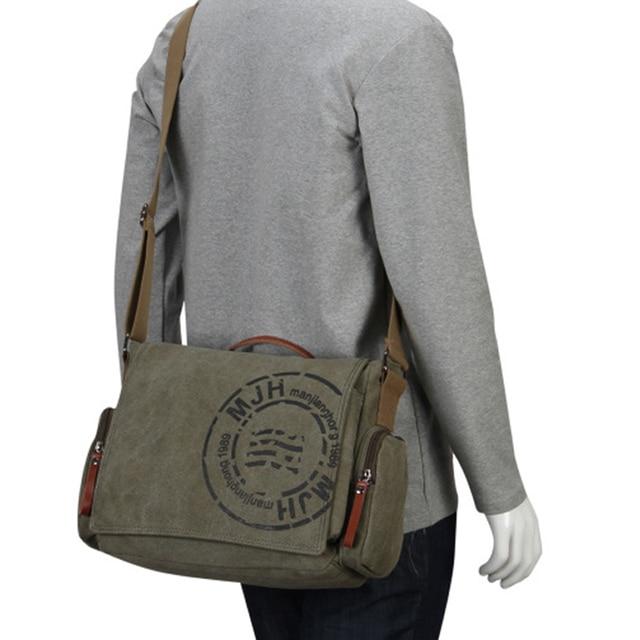 Men's Messenger Bags Canvas Shoulder Bag Fashion Men Business Crossbody Bag Printing Travel Handbag 5