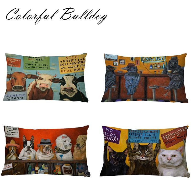 Patrón Animal decoración cojín gato tiburón Scottish Terrier Basset ...