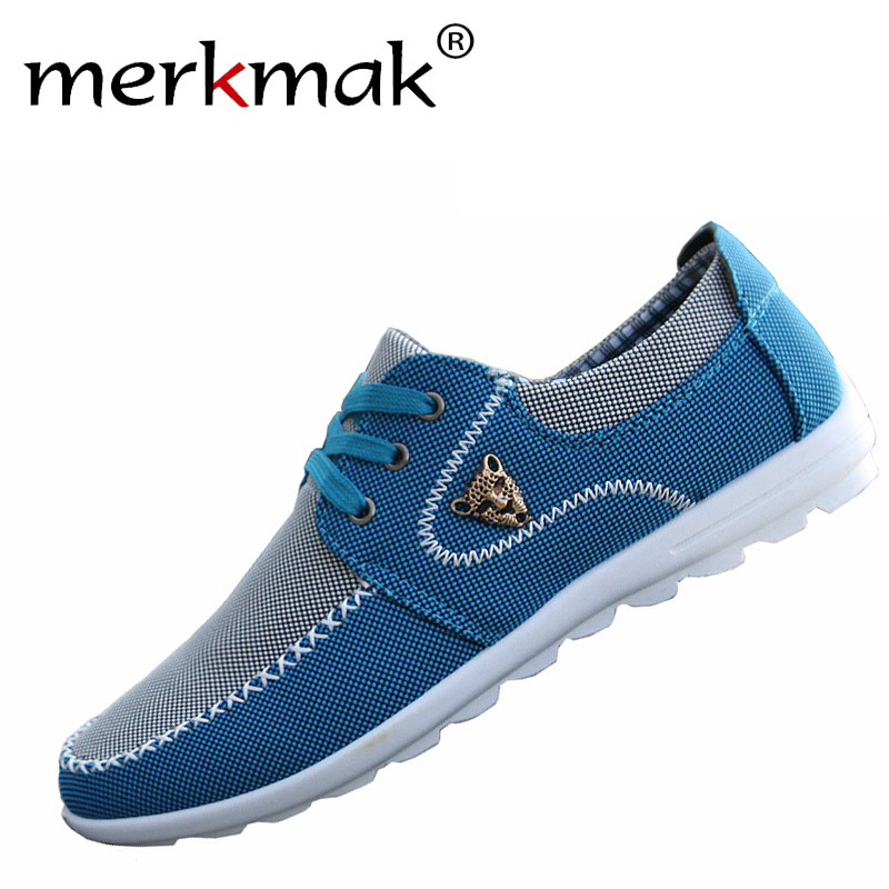 Merkmak verano hombres zapatos de tendencia zapatos de lona masculinos zapatos c