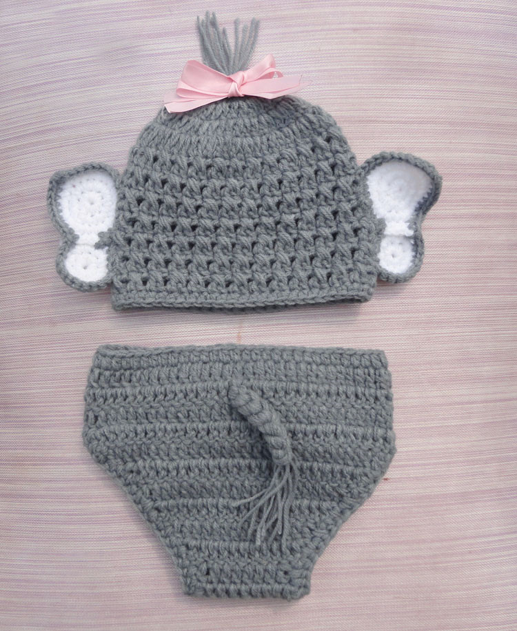 Aliexpress Buy Crochet Baby Elephant Costume Knitted Baby Hat