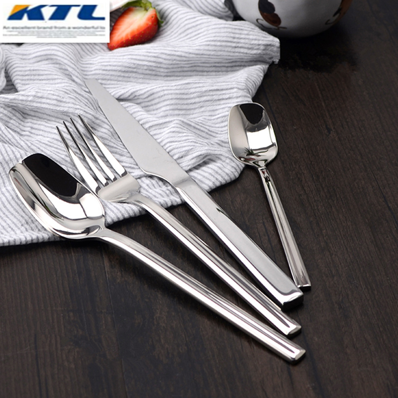 KTL Juego de vajilla de 24 piezas / lote Acero inoxidable de primera - Cocina, comedor y bar