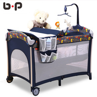 Bp folding multifunctional baby bed fashion portable game bed bb child bed cradle bed with roller