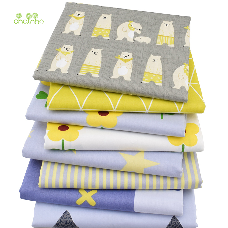 8pcs / lot, Twill Bomull Stoff Patchwork Cartoon Tissue Cloth Of Handmade DIY Quilting Sy Baby & Barn Sheets Dress Material