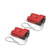Red 6-10 Gauge Battery Quick Connect/Disconnect Wire Harness Plug Connector Recovery Winch Trailer | 12-36V DC, 50A