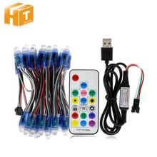 WS2811 RGB LED Module IP68 Waterproof DC12V Full Color LED Pixel Module String Point Lights 50pcs/ lot цена и фото