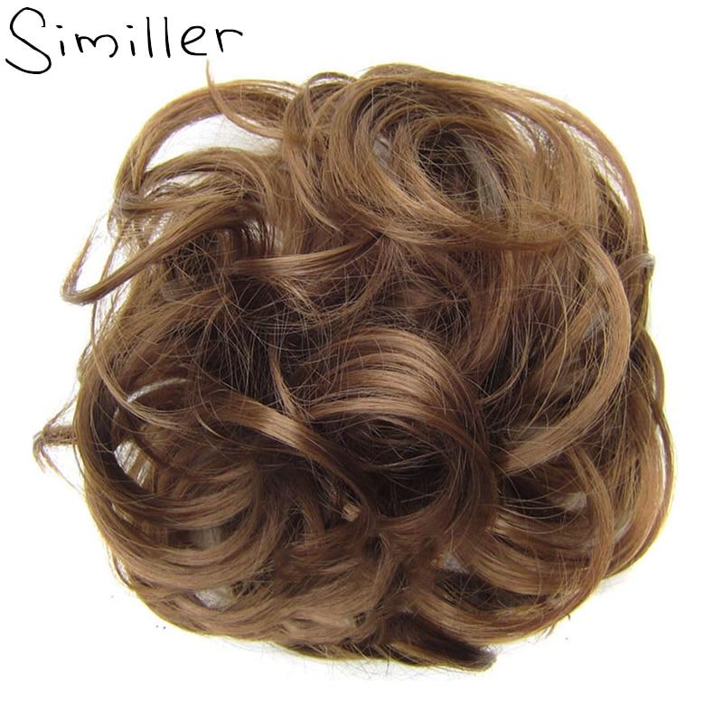 Similler Synthetic Hair Bun Elastic Donut Hair Bag High Temperature Fiber Chignon Bun Hair Extensions Accessories Wedding