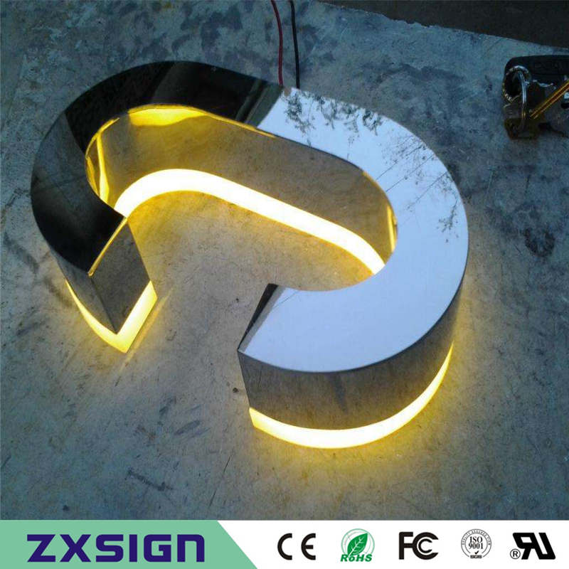Factory Outlet Stainless Steel Led Lighted Letters Custom Sign Advertising Products,backlit Letters Exterior Business Sign