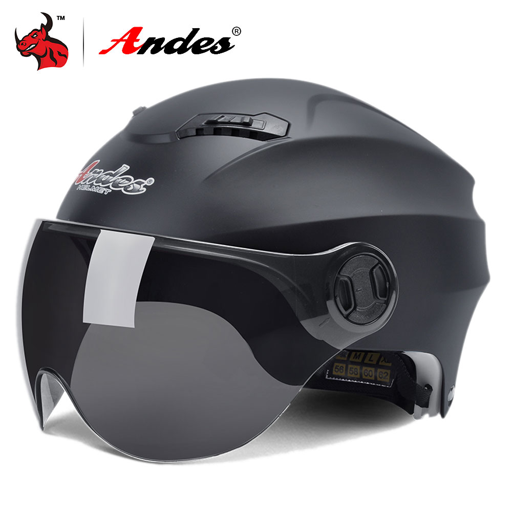 Andes Motorcycle Helmet 3/4 Open Face Moto Helmets Men Women Scooter Helmet Motorbike Casque Moto Casco Helmet Motorcycle