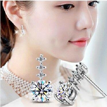 Подарок на день Святого Валентина Модные ювелирные изделия звезда блестящие серьги-гвоздики для мужчин и женщин