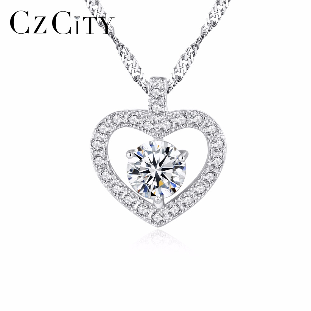 Fashion Woman Silver Plated Clear Cubic Zirconia Cute Cat Pendant For Necklace