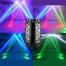 Mini Spider Light 8 Pcs Colorful LED DMX Pesta Disko Laser DJ Efek Pencahayaan Klub Malam Lampu Berputar Panggung CD50 W01(China)