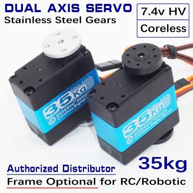 RDS3235 35kg Telaio Opzionale Coreless Cassa del Metallo In Acciaio Inox Gear Standard Dual Alberi Asse Arduino Robot Servo UAV Aereo
