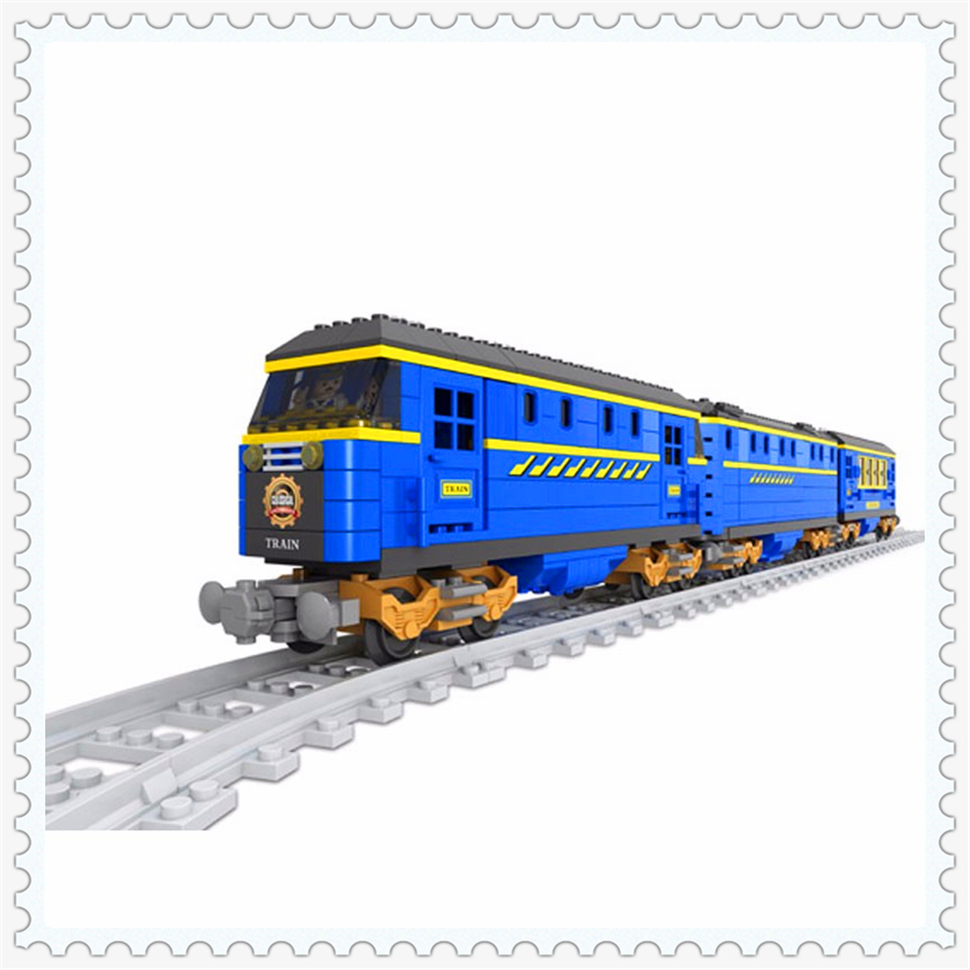 832Pcs Blue Transport Train Rail Station Model Building Block Toys Ausini 25002 Figure Gift For Children Compatible Legoe туфли детские 25002 р26 кожа карамель розовый ean 4606363295402