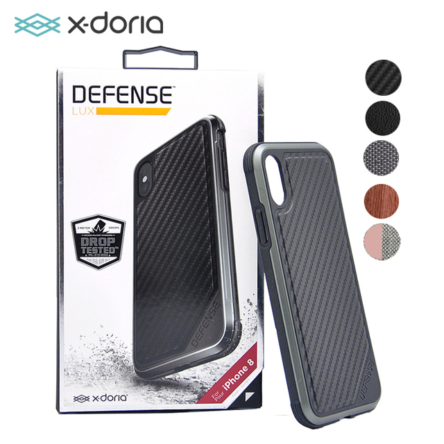 new products 922f1 cf6ba US $26.99 |X doria Defense Lux Case for Apple iPhone X Military Grade Drop  Tested, TPU & Aluminum Premium Protective Cover 4 Colors-in Half-wrapped ...