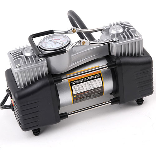 Portable Vehicle 2 Cylinder Auto 12V Double Cylinder Air Compressor Pump Car Tire Tyre Inflator for motorcycle Bike  boat beds new arrival 12v 4800pa ac car electric air pump for camping airbed boat toy inflator