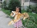 Mentira tigre animal de peluche 105 cm de peluche de simulación muñeca de juguete gran regalo envío libre w113