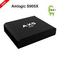 Najnowszy S905X AX5 TV BOX Amlogic Quad Core Android 6.0 PAMIĘĆ RAM 1 GB/2 GB ROM 8 GB/16 GB 2.4 GHz WiFi UHD 4 K Media Player Smart tv box HEVC