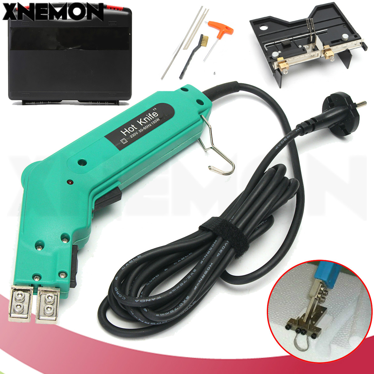 XNEMON Groove Electric Hot Knife Foam Cutter Hot Wire Styrofoam Craft Tool Cutting Grooving Heating Machine