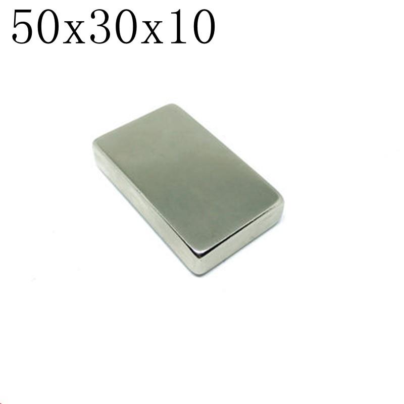 2pcs 50*30*10 Super Powerful Strong Bulk Small Block NdFeB Neodymium Disc Magnets Dia 50mm x 30mm x 10mm N35 Rare Earth NdFeB 10050044w diy rectangular ndfeb magnets silver 30 x 20 x 5mm 2 pcs