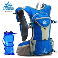 AONIJIE Waterproof Running Nylon Backpack 12L Outdoor Ultralight Travel Hydration Water Pack Sport Climbing Cycling Hiking