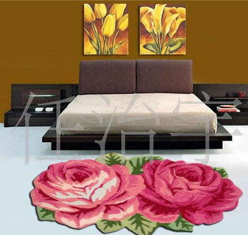 FREE SHIPPING HOT SALE Flower Area Rug 70cm X 60cm Round Flower Carpet  (Home U0026