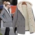 2016 большой размер толстые ягненка шерсти зимняя куртка Jaqueta женские модели в длинный пуховик зимнее пальто женщин parka верхняя одежда