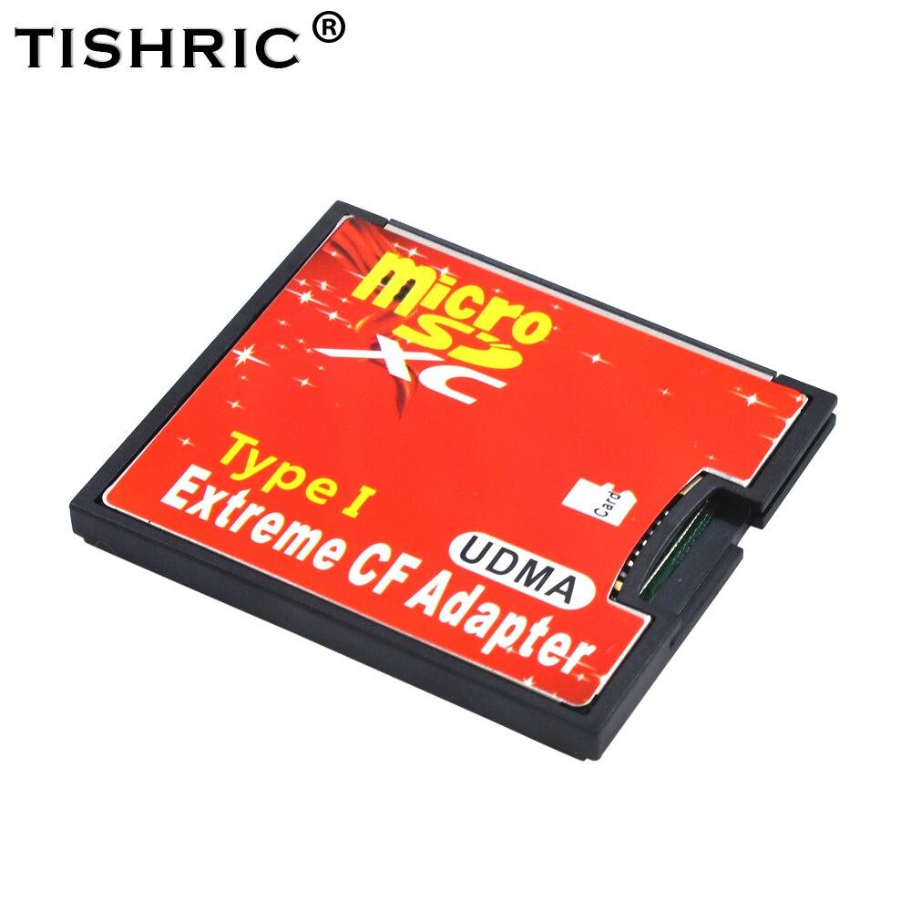 Nouveau Micro SD TF pour Adapter la carte CF pour MicroSD/HC au convertisseur Compact de lecteur de carte mémoire Flash de Type I pour appareil photo