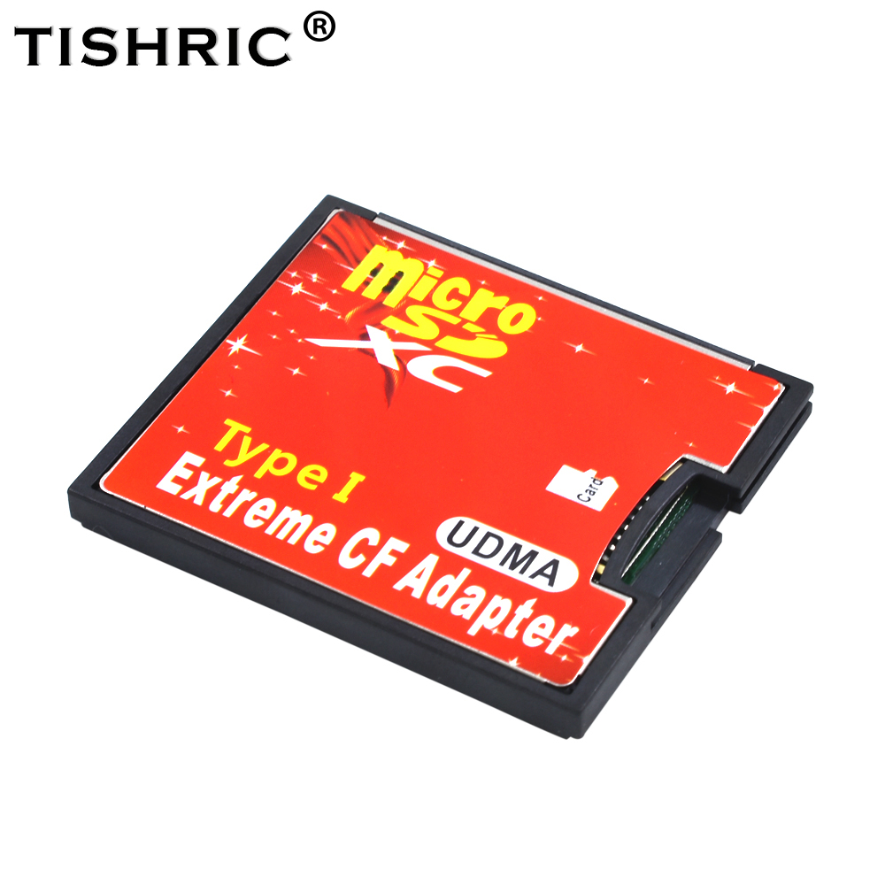 TISHRIC New Micro SD TF To Adapter CF Card  For MicroSD/HC To Compact Flash Type I Memory Card Reader Converter For Camera