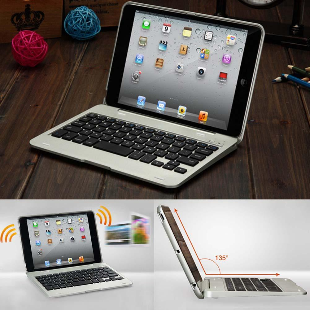 Foldable Wireless Bluetooth Rechargeable Keyboard Case Cover For iPad Mini E Shockproof Portable Keyboard Case for iPad Mini foldable bluetooth v3 0 keyboard for ipad air black