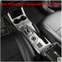 High quality ABS Chrome silver 3 styles panel gear panel car interior For Mitsubishi Outlander 2013 2018 Car Covers Car styling|Chromium Styling| |  -