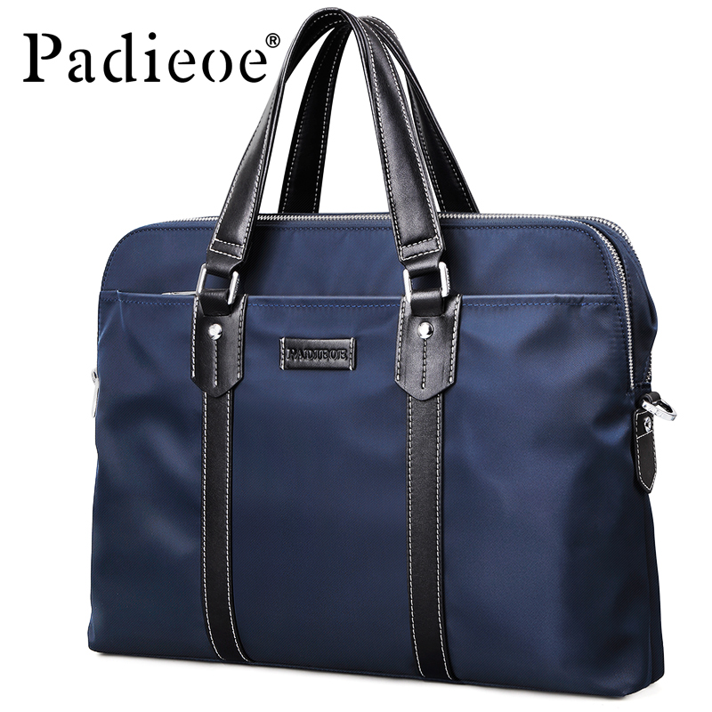 Padieoe 2018 New Style Men Briefcase Luxury Brand Male Laptop Documents Bag Fashion Men's Large Capacity Waterproof Brifecase