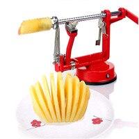 1PC Manual Stainless Steel Sweet Potatoes Machine Potato Slicer Potato Spiral Cutter DIY Potato Chips For Kitchen Tool